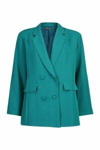 Womens Oversized Tailoring Blazer - green - 10, Green