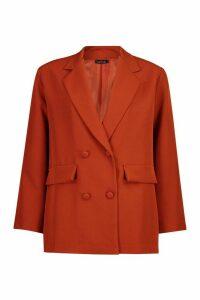 Womens Oversized Tailoring Blazer - orange - 14, Orange