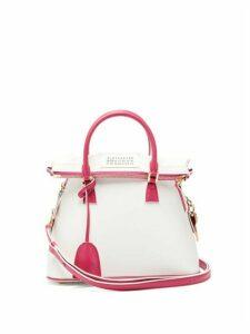 Maison Margiela - 5ac Uv Small Leather Bag - Womens - Pink Multi