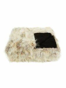 Velvet Back Coyote Fur Throw