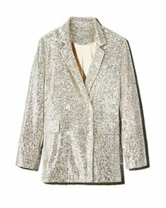 Whistles Sequined Double-Breasted Blazer