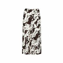 Kitri Marie Cow Print Midi Skirt
