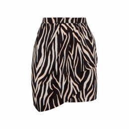 Gestuz Fei Black Printed Satin Mini Skirt