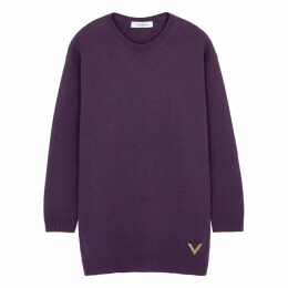 Valentino Purple Cashmere Jumper