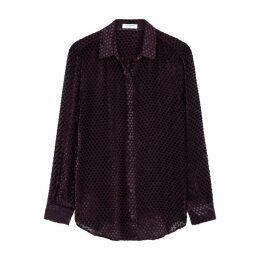 Equipment Essential Star Devoré Silk-blend Shirt