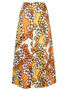 3.1 Phillip Lim Printed Multi Slit Skirt - ORANGE