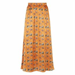PHOEBE GRACE - Orange Poppy Plain Jane Skirt