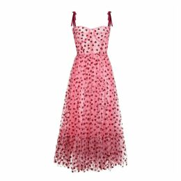 Lirika Matoshi - Hearty Corset Midi Dress