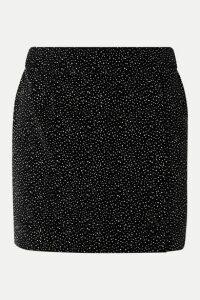 Bella Freud - Glittered Cotton-velvet Mini Skirt - Black