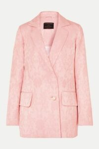 Mother of Pearl - +net Sustain Francis Organic Cotton And Wool-blend Floral-jacquard Blazer - Pastel pink