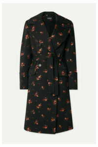Ann Demeulemeester - Double-breasted Cotton-blend Jacquard Coat - Black