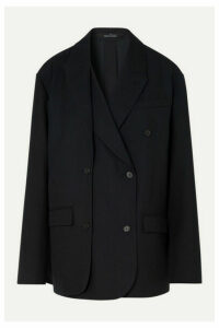 Rokh - Layered Double-breasted Twill Blazer - Navy