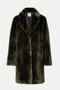 Faz Not Fur - Snow Leo Faux Fur Coat - Dark green