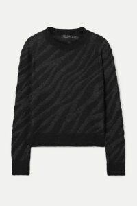 rag & bone - Germain Metallic Alpaca-blend Jacquard-knit Sweater - Black