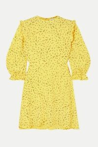 Faithfull The Brand - Edwina Ruffled Floral-print Crepe Mini Dress - Yellow
