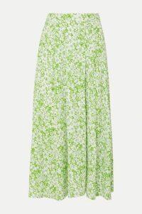 Faithfull The Brand - Cuesta Pleated Floral-print Crepe Midi Skirt - Mint