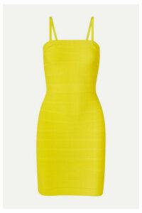 Hervé Léger - Icon Bandage Mini Dress - Bright yellow