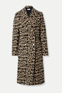 By Malene Birger - Belloa Double-breasted Animal-print Wool-blend Coat - Brown