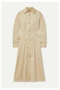 ANNA QUAN - Arlo Cotton-blend Poplin Midi Dress - Beige