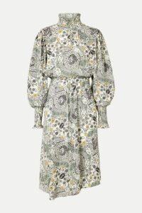 Isabel Marant Étoile - Cescott Ruffled Printed Crepe De Chine Midi Dress - Ecru