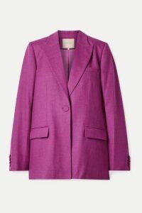 Roksanda - Antalya Wool-blend Twill Blazer - Purple