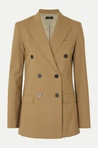 Theory - Double-breasted Grain De Poudre Wool-blend Blazer - Camel
