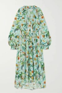 Dodo Bar Or x Annabel's - Toto Printed Cotton-voile Maxi Dress - Sky blue