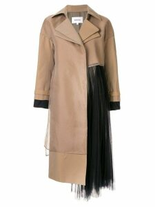 Enföld tulle insert coat - Brown