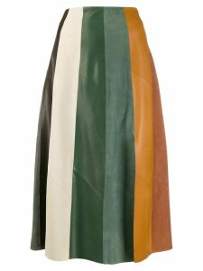 Salvatore Ferragamo A-line stripe midi skirt - Green