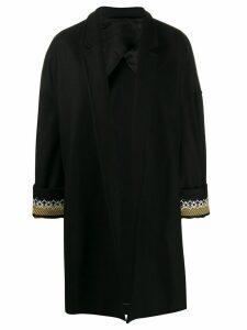 Haider Ackermann embroidered twill cocoon coat - Black