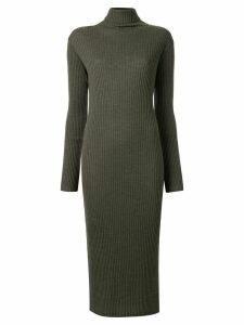 Tomorrowland turtleneck ribbed-knit dress - Green