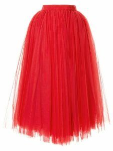 Dolce & Gabbana circle tulle skirt - Red