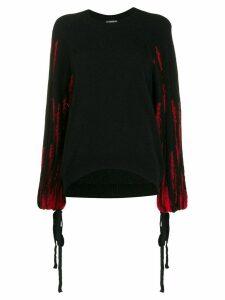 Ann Demeulemeester contrast-sleeve jumper - Black