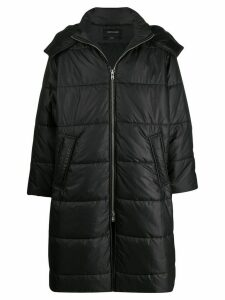 Odeur boxy fit padded coat - Black