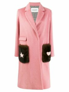 Ava Adore textured pocket coat - Pink