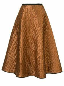 Lee Mathews Cecily A-Line silk skirt - Brown