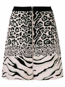 Stella McCartney animal pattern knitted skirt - Black