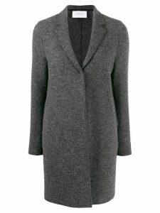 Harris Wharf London textured single breasted coat - Grey