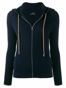 PS Paul Smith hooded zip-through sweater - Blue