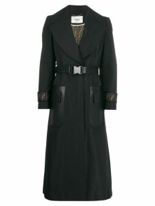 Fendi belted overcoat - F0GME BLACK