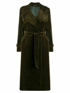 Tagliatore Carola belted trench coat - Green