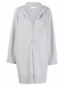Fabiana Filippi hooded cardi-coat - Blue