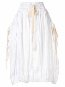 Lee Mathews Freya parachute skirt - White