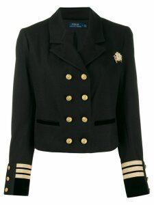 Polo Ralph Lauren officer style cropped blazer - Black