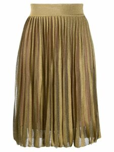 Alberta Ferretti pull-on knitted skirt - Gold