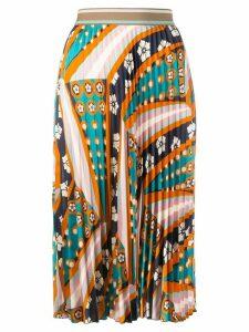 M Missoni patterned pleated skirt - ORANGE