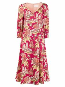 Peter Pilotto floral print flared dress - PINK