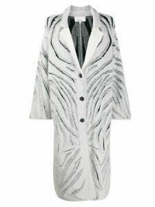 3.1 Phillip Lim Zebra Fringe Coat - White