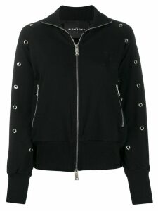 John Richmond Sickert zipped eyelet sweatshirt - Black