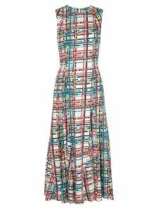 Jonathan Cohen Anna geometric print midi dress - White
